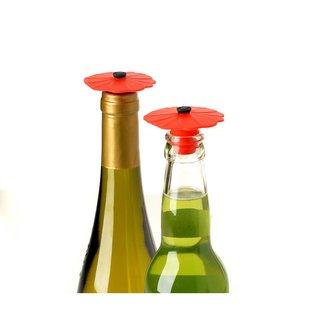 Charles Viancin Poppy Bottle Stopper, Red