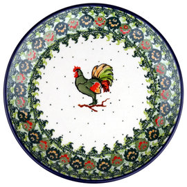 Ceramika Artystyczna Dinner Plate Harvest Rooster Signature