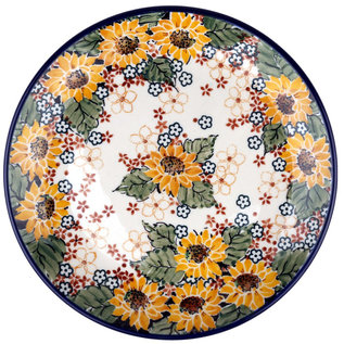 Ceramika Artystyczna Dinner Plate Autumn Sunflower Signature