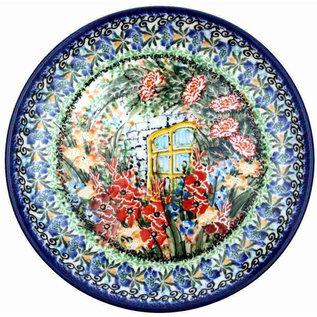 Ceramika Artystyczna Dinner Plate Garden Window Signature
