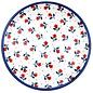 Ceramika Artystyczna Dinner Plate Double White Pansy