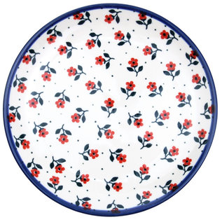 Ceramika Artystyczna Dinner Plate Cranberry Confetti Flower Signature