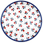 Ceramika Artystyczna Dinner Plate Hummingbird Scarlet Garden Signature