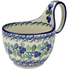 Ceramika Artystyczna Soup Cup Blueberry Vine