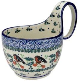 Ceramika Artystyczna Soup Cup Holiday Robin