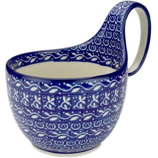 Ceramika Artystyczna Soup Cup Blue Silk