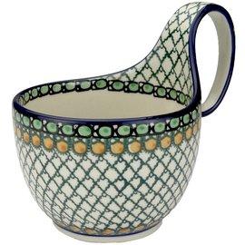 Ceramika Artystyczna Soup Cup Geometric Hazel Signature
