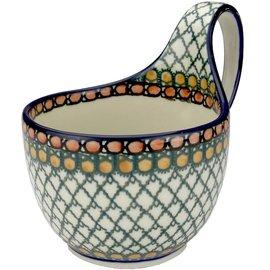 Ceramika Artystyczna Soup Cup Geometric Amber Signature