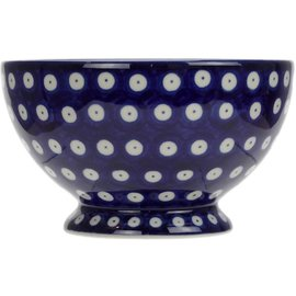 Ceramika Artystyczna Pedestal Bowl Size 1 Royal Blue