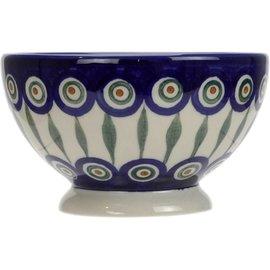 Ceramika Artystyczna Pedestal Bowl Size 1 Royal Peacock