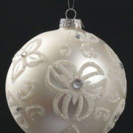 White Glass Floral Vine