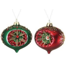 Vintage Style Glass Ornament