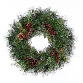 Fir Wreath With Cedar, Berries & Cones