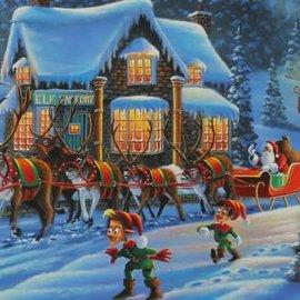 Puzzle Santa on His Way