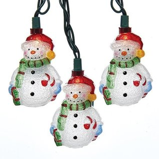 Vintage Snowman Light Set