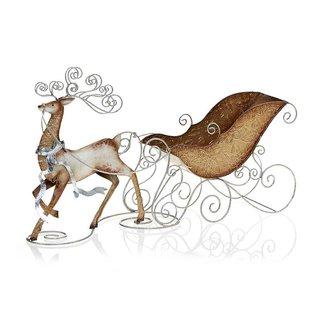 Reindeer & Sleigh Candle Holder