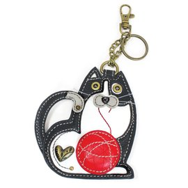 Coin Purse Key Fob Fat Cat