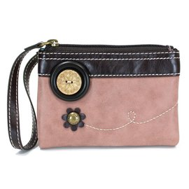 Double Zip Wallet Dusty Rose