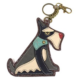 Coin Purse Key Fob Schnauzer