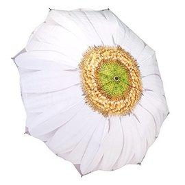 Folding Umbrella White Daisy
