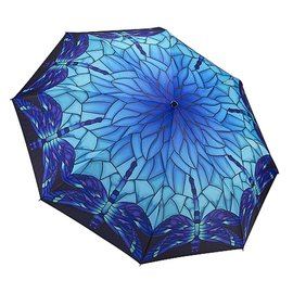 Folding Umbrella Stained Glass Dragonfly