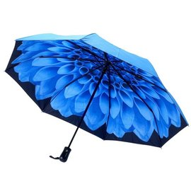 Stick Umbrella Blue Dahlia