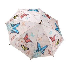 Stick Umbrella Vintage Butterflies