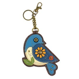 Coin Purse Key Fob Blue Bird