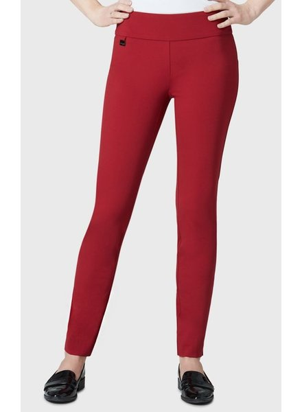 LISETTE LISETTE BETTY KATHRYNE FABRIC 31'' SLIM PANT BRICK RED