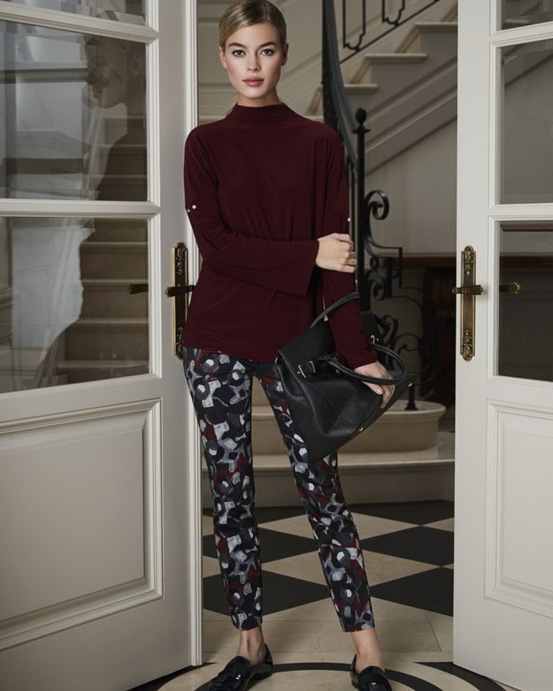 LISETTE LISETTE BETTY PABLO PRINT 31'' SLIM PANT BRICK RED