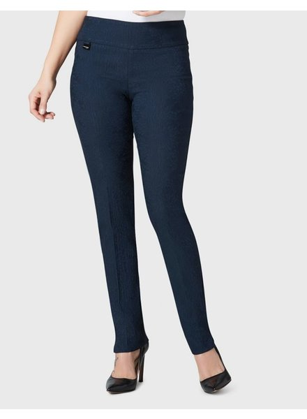 LISETTE LISETTE BETTY CHRYSANTHEMUM PATTERN 31'' SLIM PANT MIDNIGHT BLUE