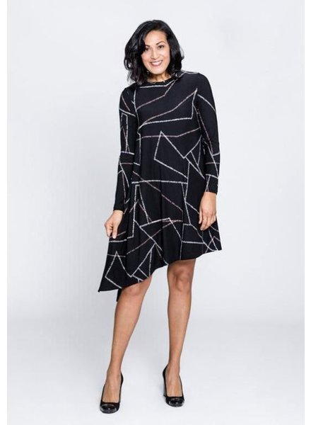 NINETY-EIGHT NINETY-EIGHT ROBE EVASE A COL ROND NOIR