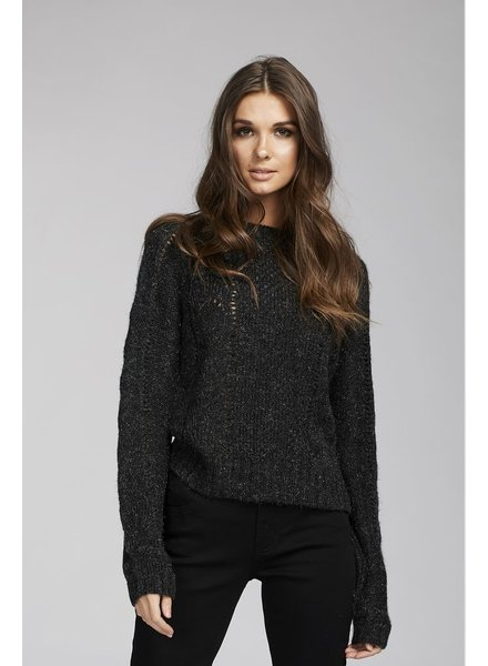 BECXY B. BECXY B. CHANDAIL CIA PUFFY SLEEVES CREW NECK NOIR