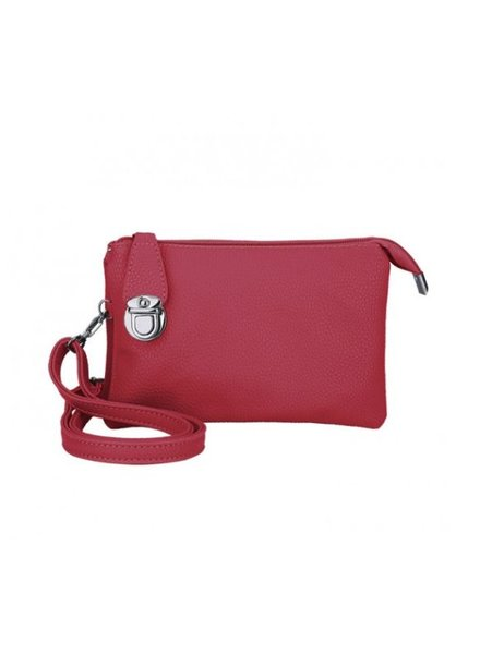 CARACOL CARACOL SAC A MAIN PLUSIEURS POCHETTES ROUGE