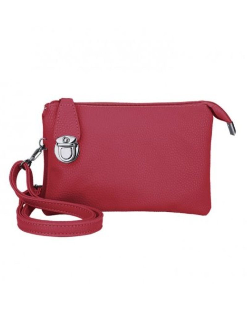 ead921aeda CARACOL CARACOL SAC A MAIN PLUSIEURS POCHETTES ROUGE - Boutique Nomade