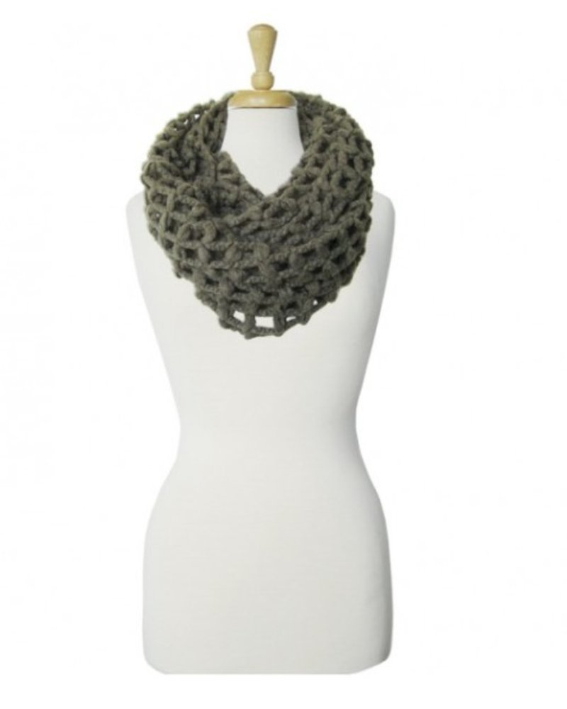 CARACOL CARACOL FOULARD GROSSES MAILLES OLIVE