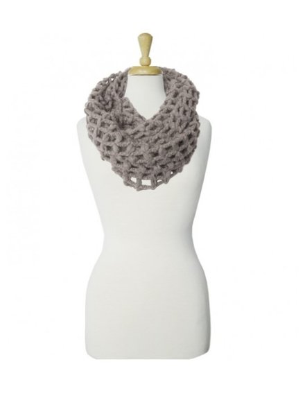CARACOL CARACOL FOULARD GROSSES MAILLES TAUPE