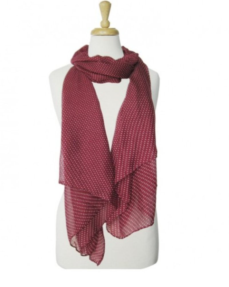 CARACOL CARACOL FOULARD LES POIS ROUGE
