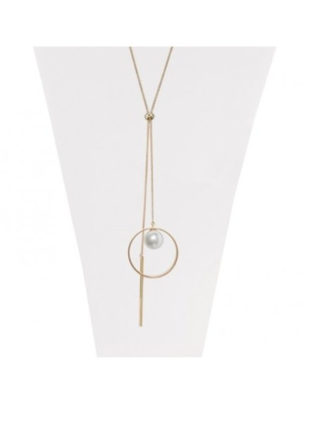 CARACOL CARACOL COLLIER AVEC PENDENTIF ROND ET CHAINE OR