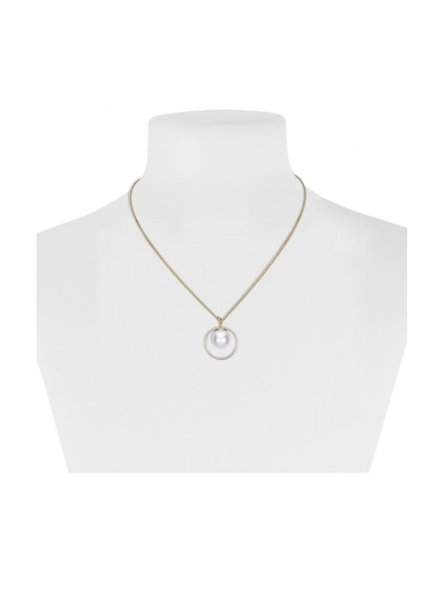 CARACOL CARACOL COLLIER COURT OR AVEC PERLE