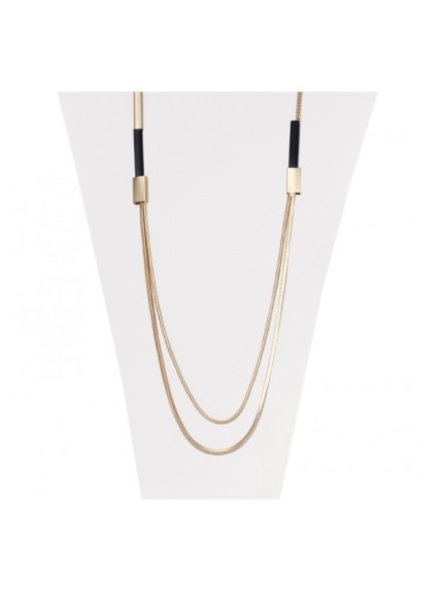 CARACOL CARACOL COLLIER LONG OR ET NOIR