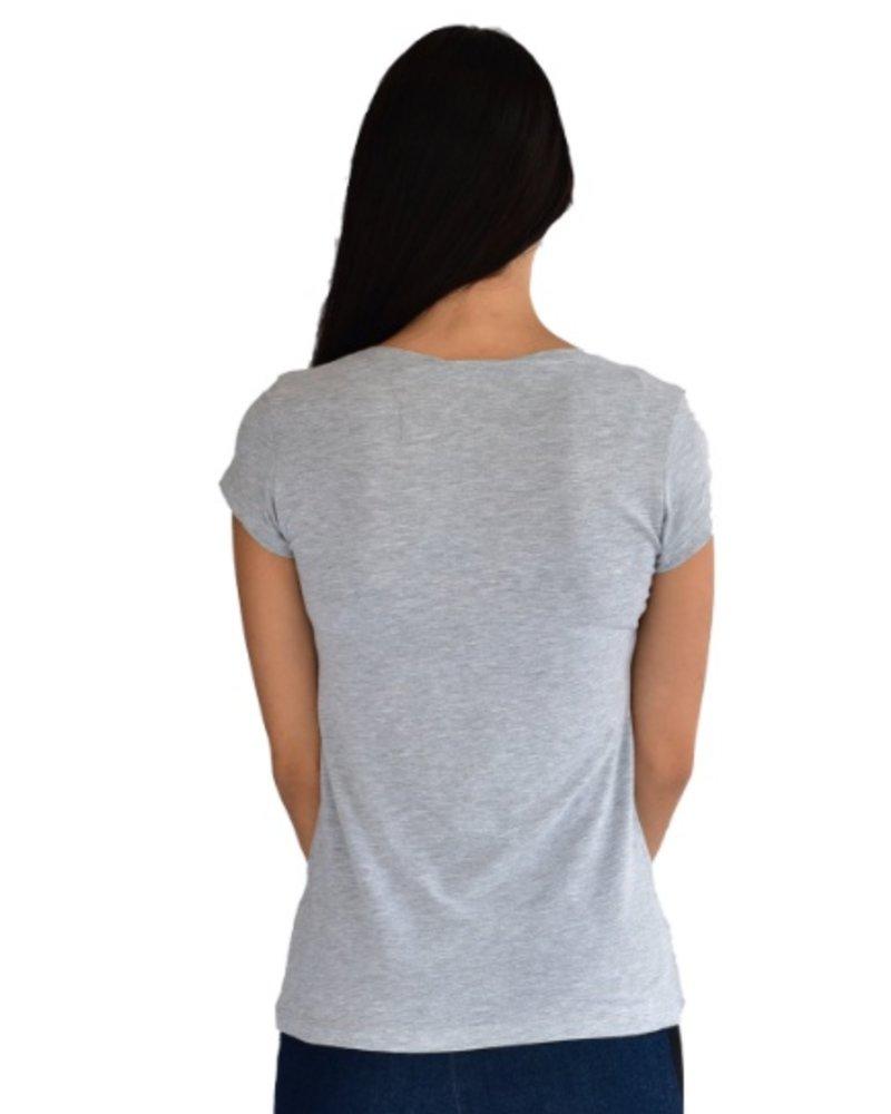 Oom T Shirt Femme Pause Gris c45d3ad7f21