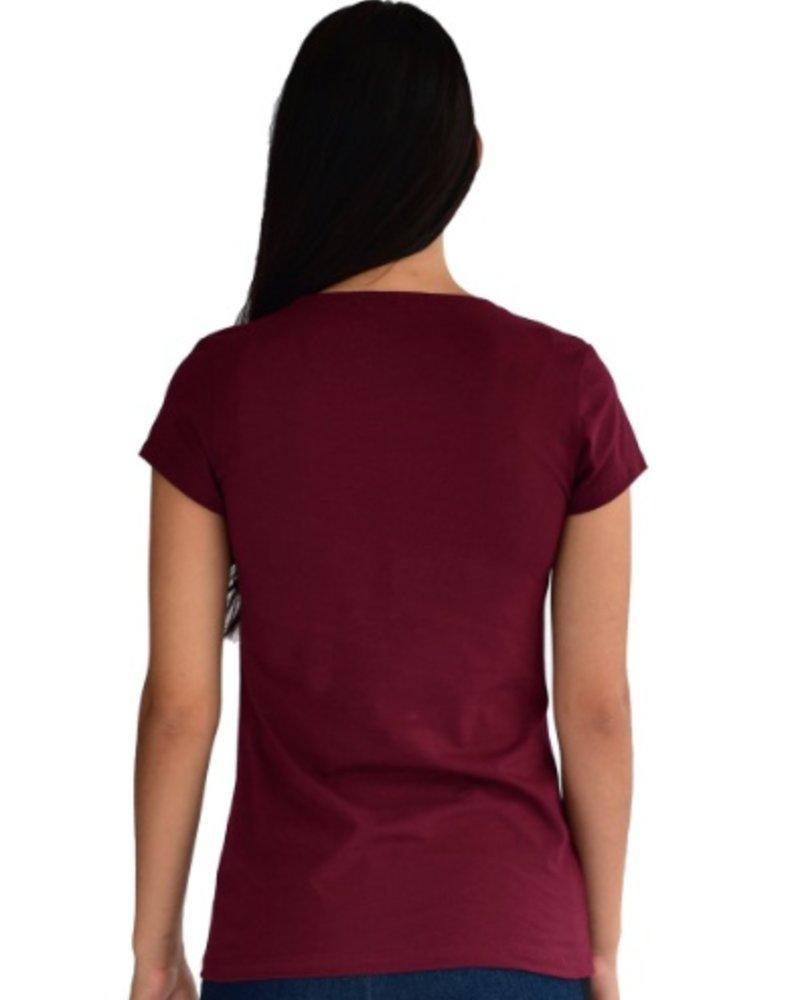 Oom T Shirt Femme Hike Bourgogne 45607dc2bb3