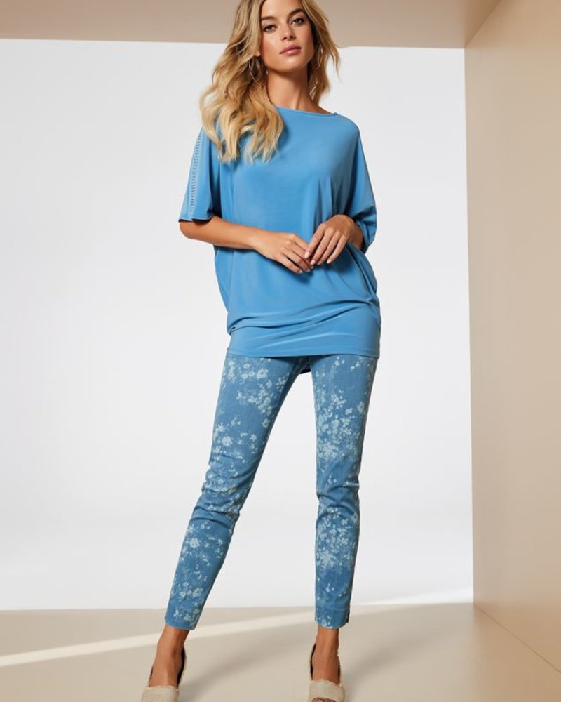 LISETTE LISETTE PANTALON BACOPA PRINTED DENIM 28'' SLIM ANKLE BLEACH