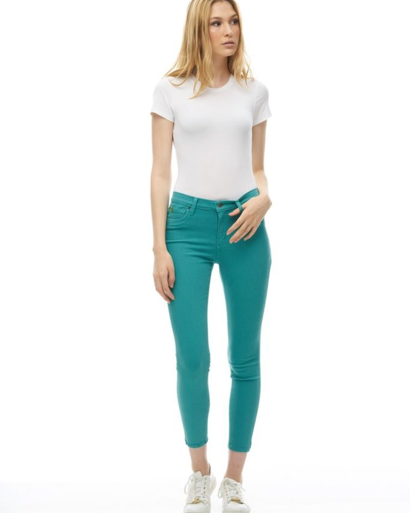 YOGA JEANS YOGA JEANS CLASSIC RISE SKINNY CHEVILLE ORCHIDEE PC