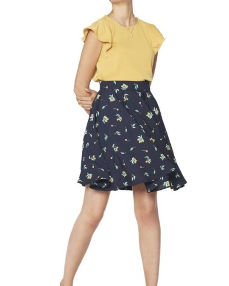 ANNIE 50 ANNIE 50 SKIRT BOSSA NOVA BERRIES NAVY