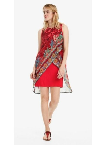 DESIGUAL DESIGUAL ROBE MONIQUE ROUGE
