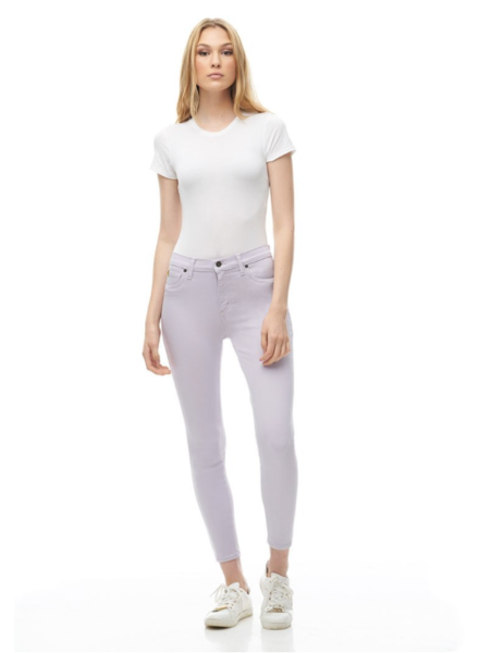 YOGA JEANS YOGA JEANS CLASSIC RISE SKINNY CHEVILLE LILAS C