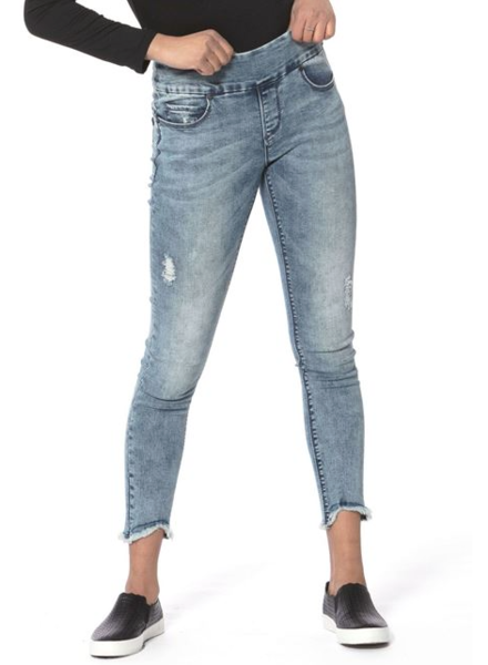 LOLA JEANS LOLA JEANS MID RISE ANKLE JULIA FOREVER BLUE