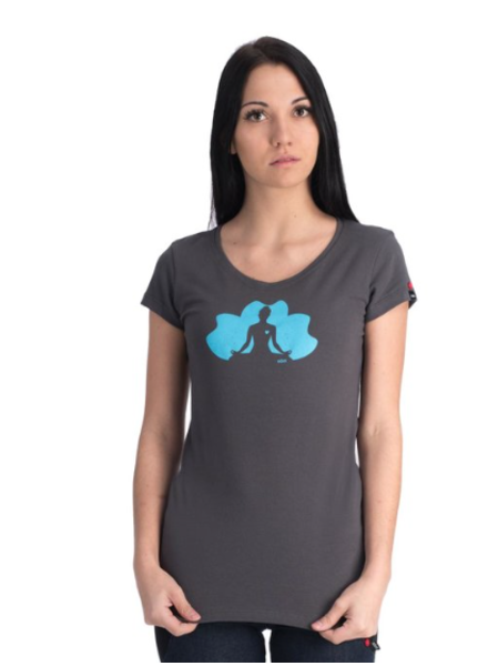 OOM OOM T-SHIRT MEDITATION CHARCOAL